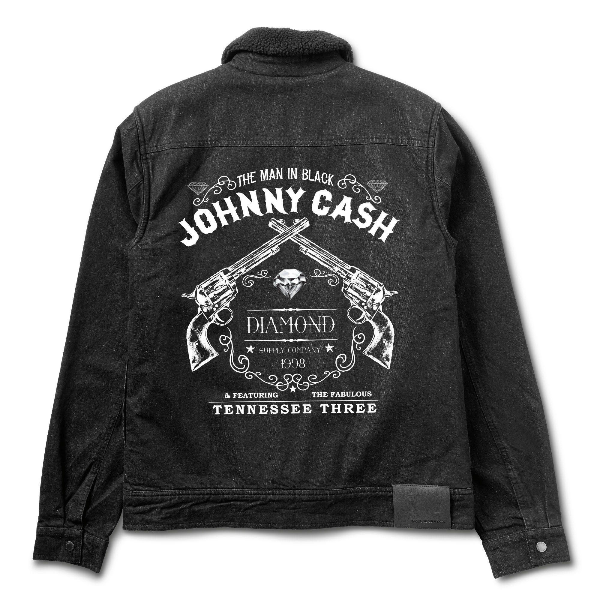ffdeb83be84 Diamond x Johnny Cash Denim Jacket w  Pin Pack - Diamond Supply Co ...