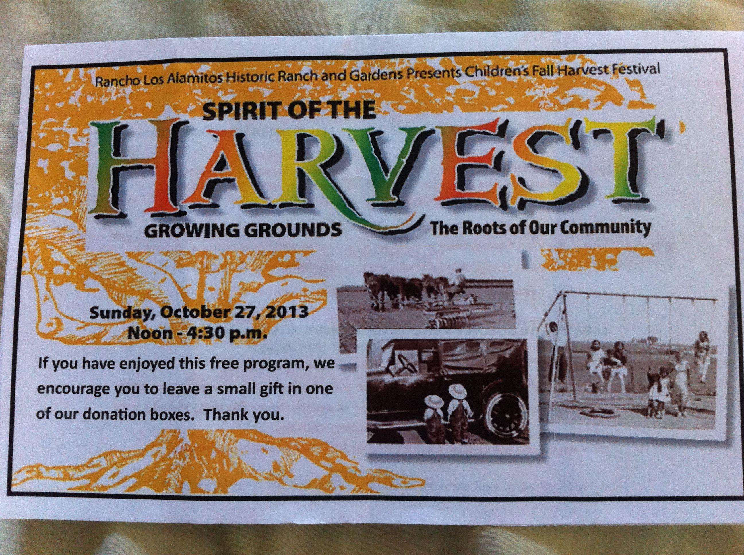 Spirit of the harvest childrenus festival at rancho losalamitos