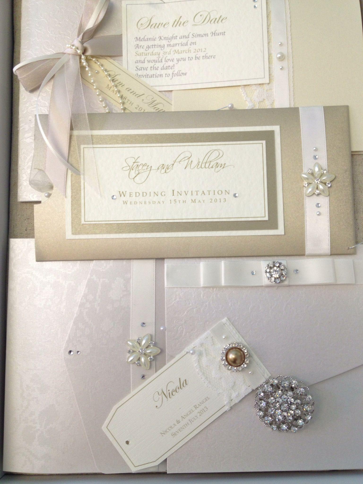 Vintage wedding stationery - elegant, classic, luxurious. Handmade ...