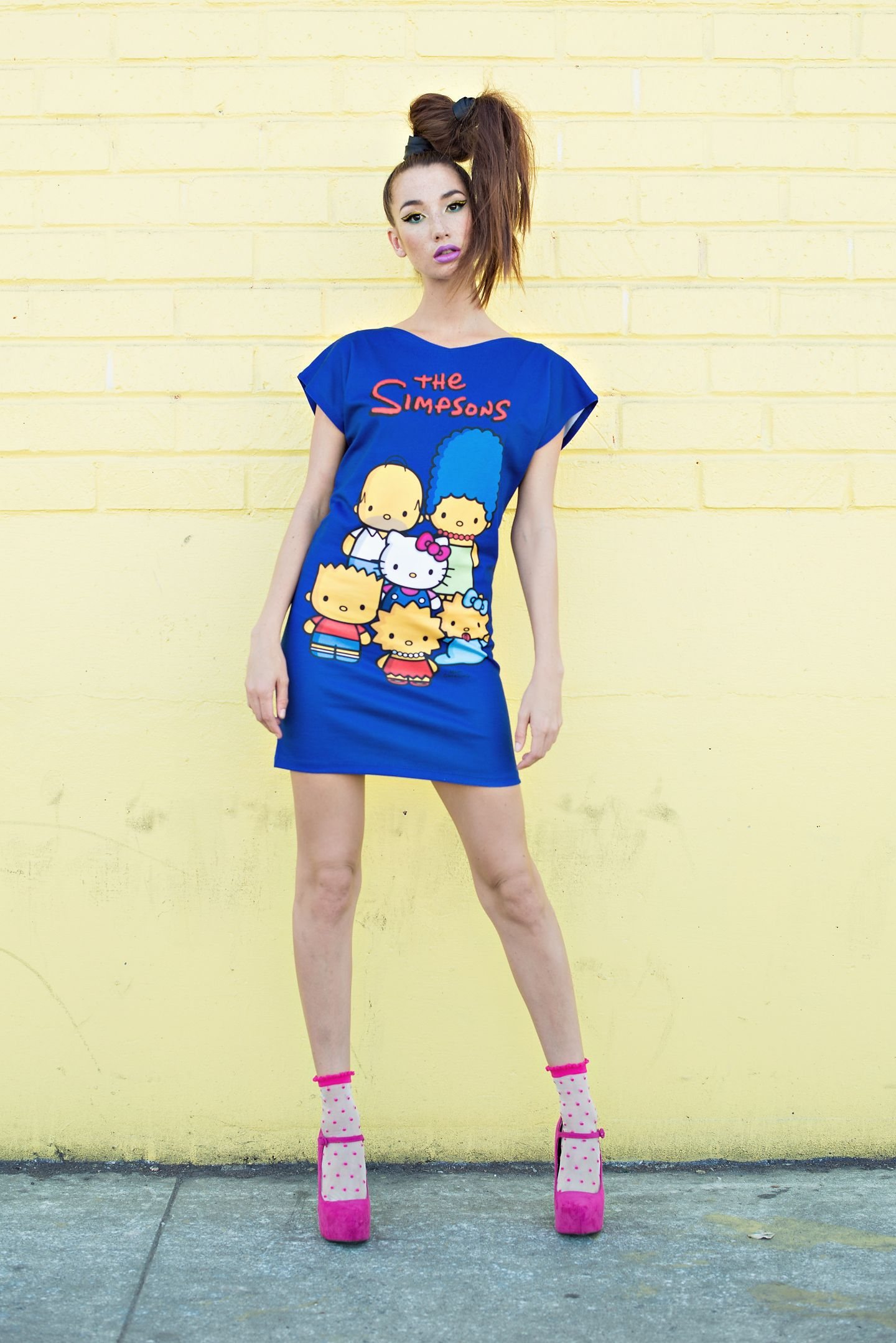 c51246359 The Simpsons x Hello Kitty Collection by JapanLA Clothing: The Family Tunic  Dress. Available at Sanrio.com, Modcloth.com DollsKill.com, ShopJeen.com!