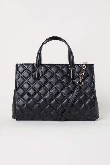 0f5a0249ce5f H M Quilted Handbag - Black