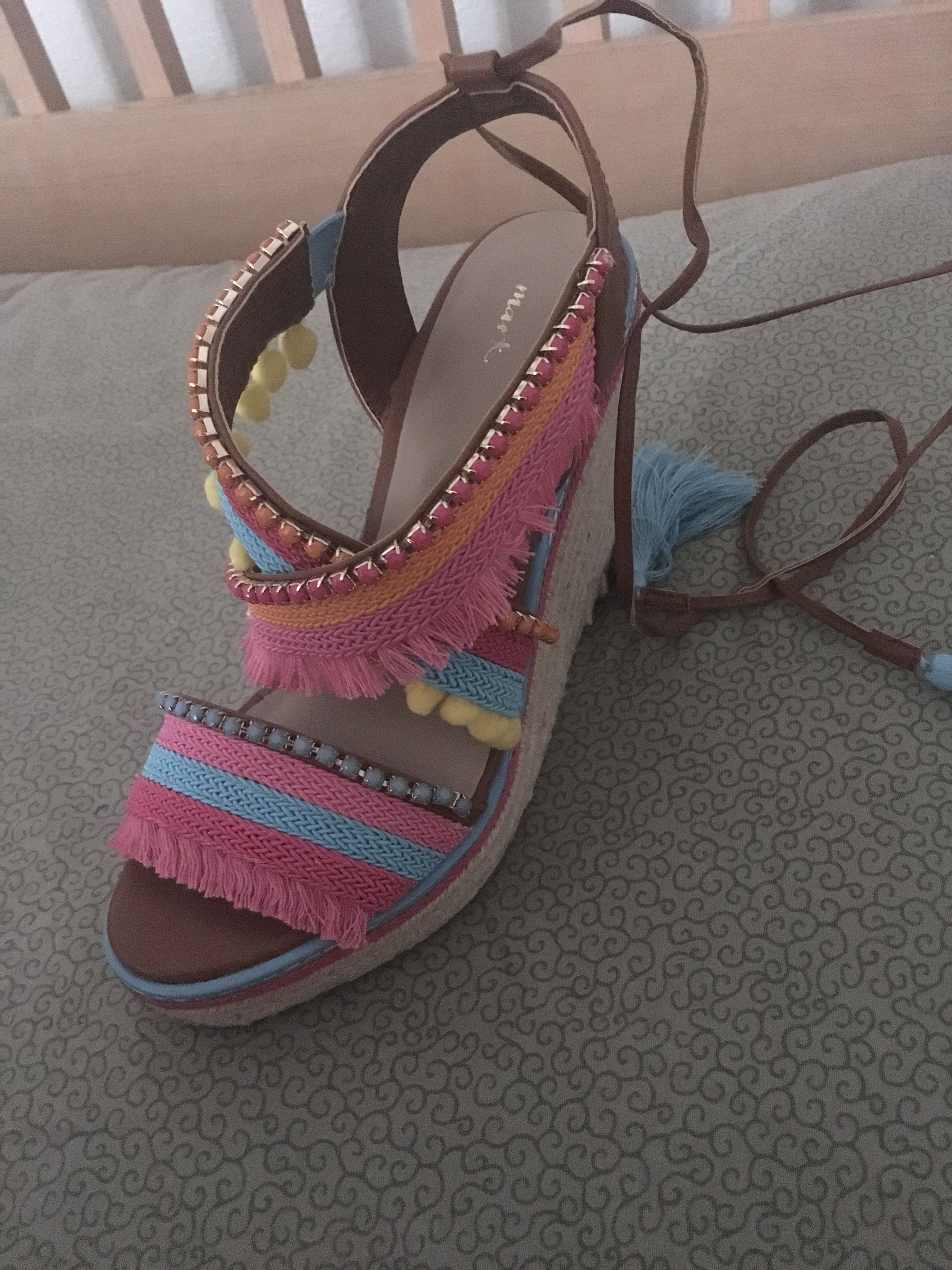 77700fa1c Check out these super cute colorful wedges! Perfect for summer! #Mark  www.youravon.com/JCASTRO