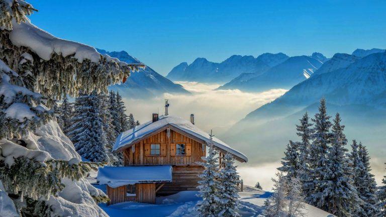 Full Hd Winter Landscape Wallpaper Winter Landscape Winter Cabin Landscape Wallpaper