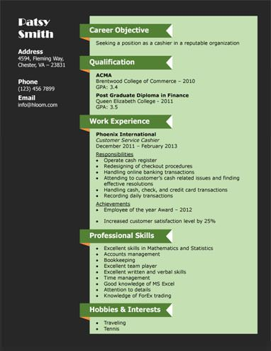 Customer Service Cashier Resume Template jervis Pinterest - cashier resume