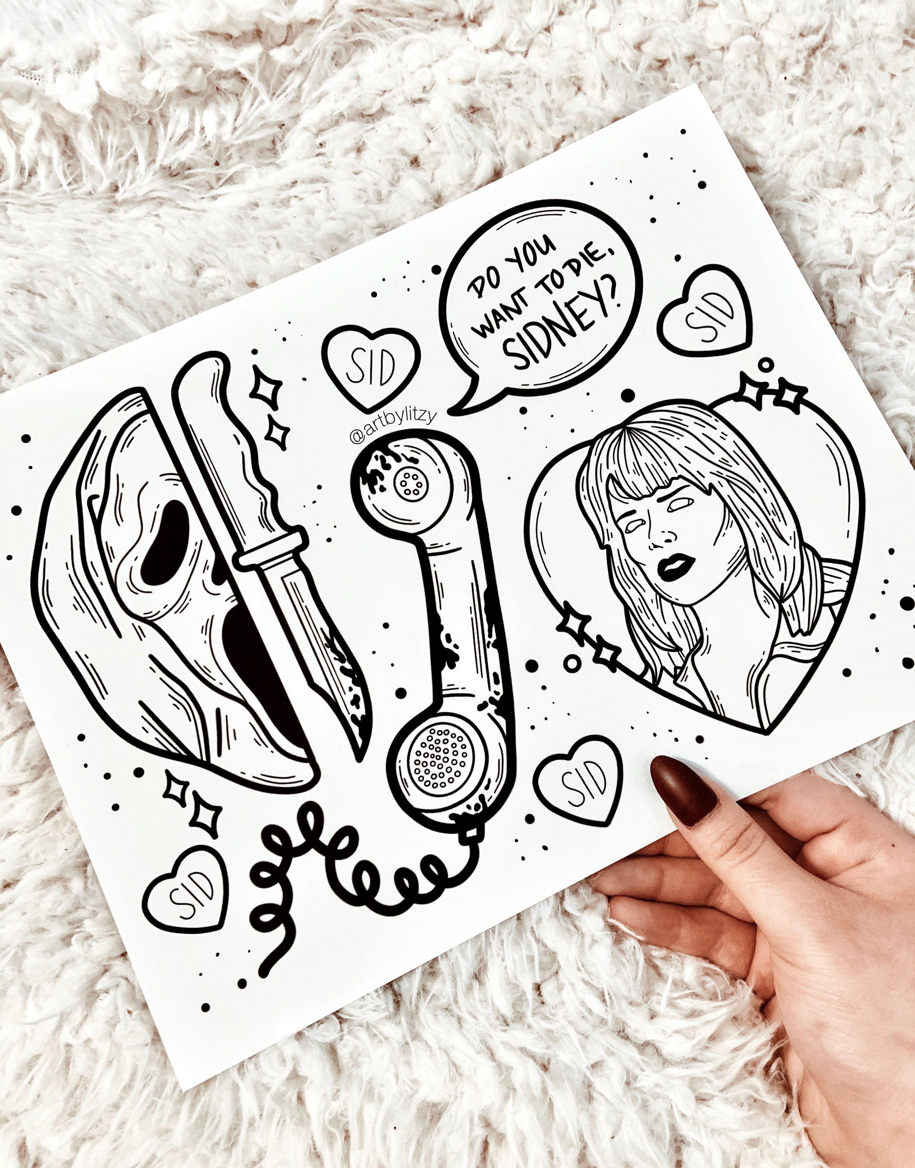 Ghostface Sidney Prescott Designs Ig Artbylitzy Flash Tattoo Sleeve Halloween Tattoos Doodle Tattoo