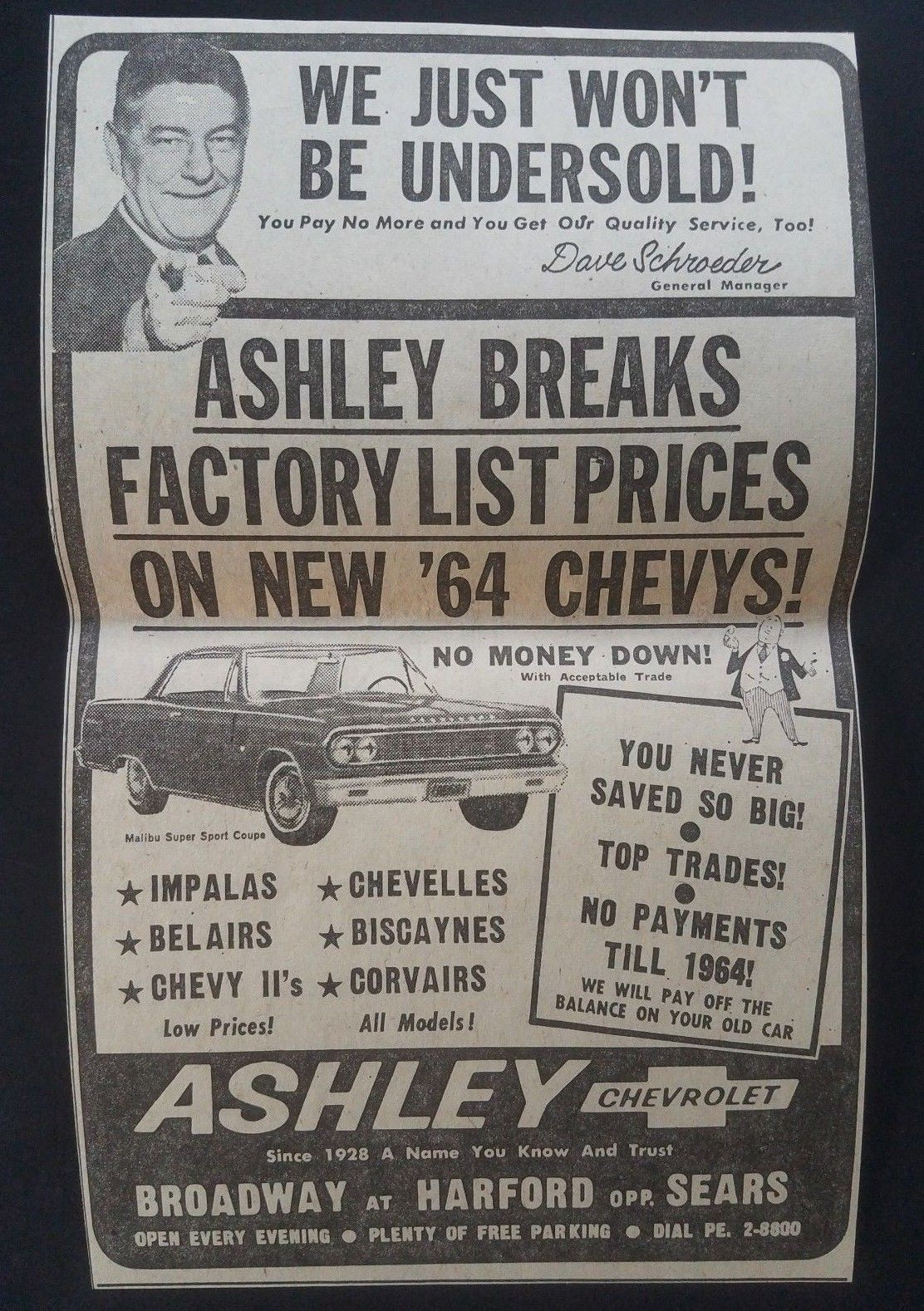 1964 Ashley Chevrolet Dealership Baltimore Maryland Chevrolet Dealership Dealership Car Dealership