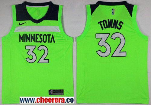 4fd4b69a600d Men s Nike Minnesota Timberwolves  32 Karl-Anthony Towns Green NBA Swingman  Jersey