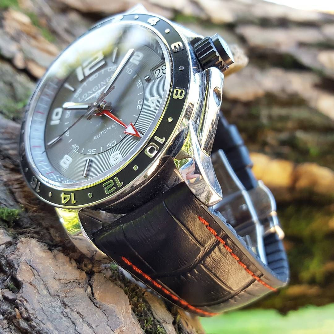 HIrsch George complements the Longines  watches  watchaddict  watchworld   watchfam  swiss   d8bc24d604