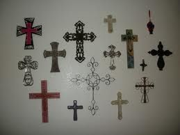 A wall of crosses...tells a story!