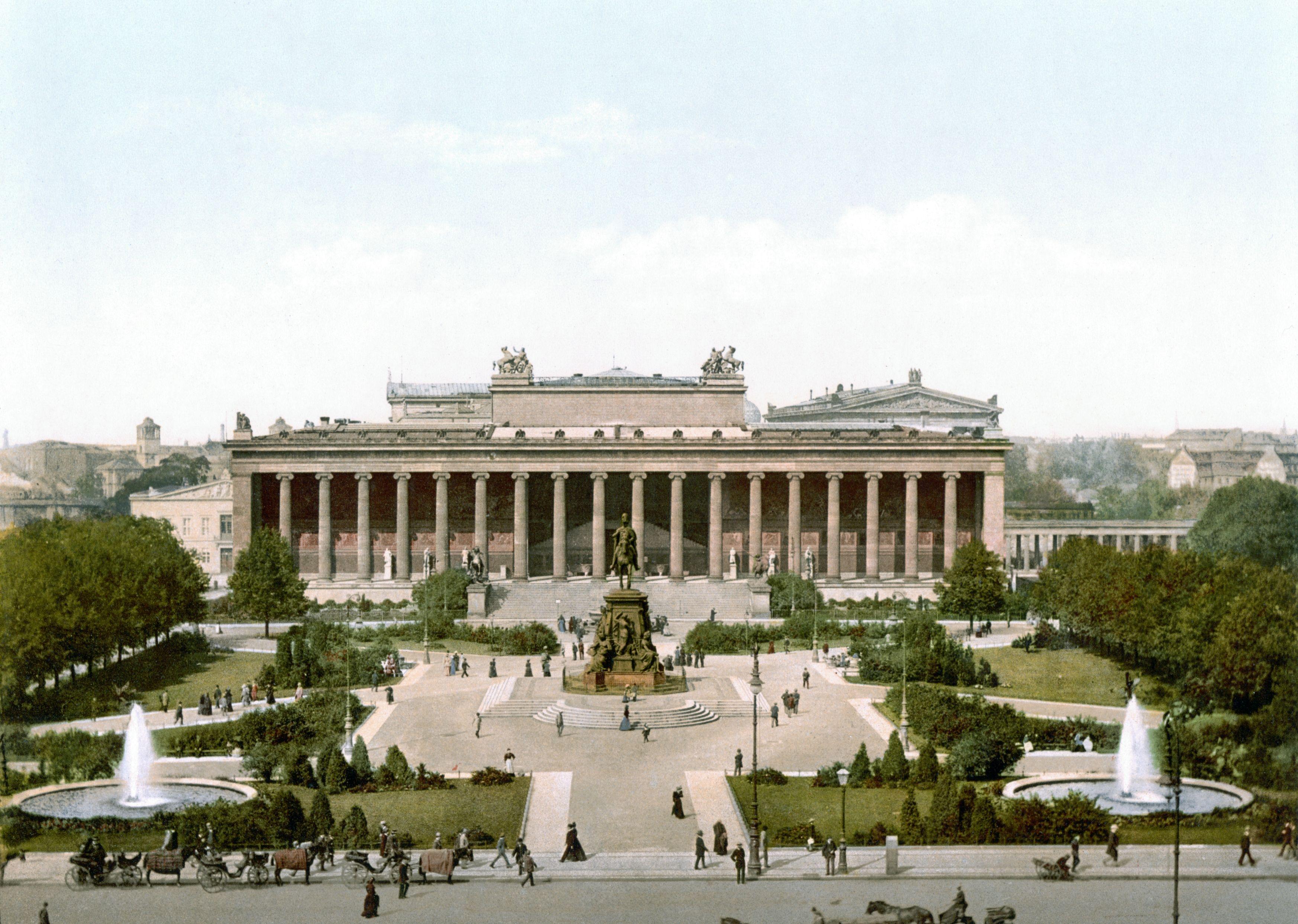 berlin altes museum und lustgarten um 1900 nicht im bild rechts
