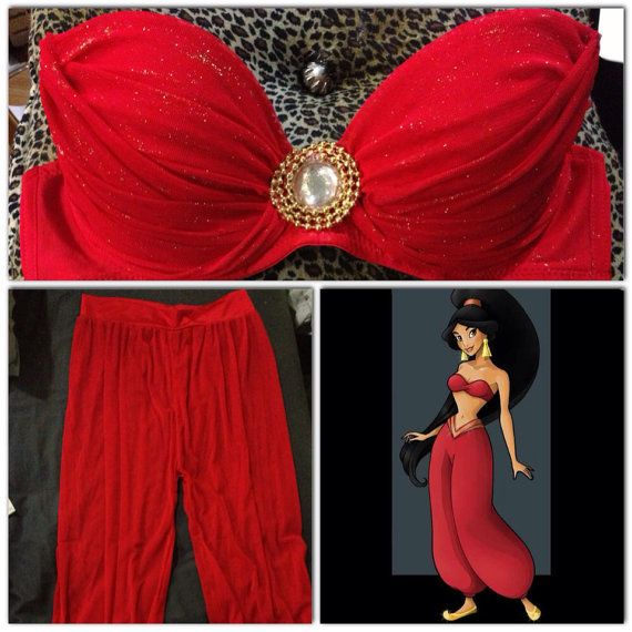 Princess Jasmine Slave Inspired Costume... so I decided im gonna be her for Halloween this year. Gotta start workin dem abs ;)