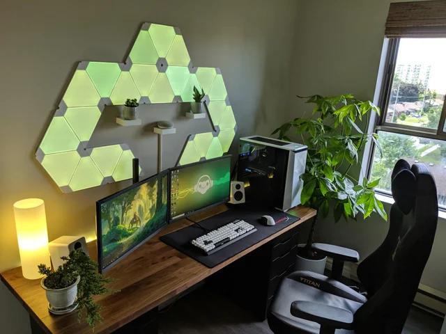 battlestations | Game room design, Desk setup, Minimalist desk