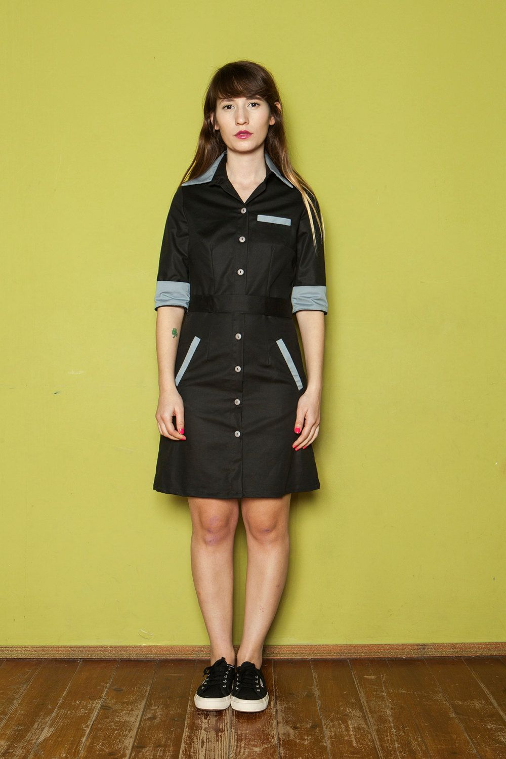 black diner waitress uniform - Google Search | Mom\'s Uniforms ...