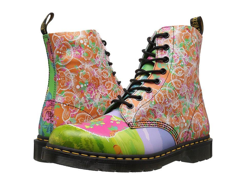 e30597b9068 Dr. Martens Pascal Daze 8-Eye Boot Women's Boots White Backhand/Daze ...