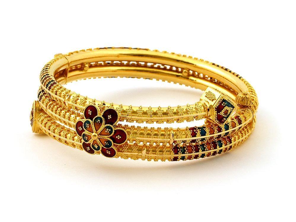 special designers made models-golden bangles | alka | Pinterest ...