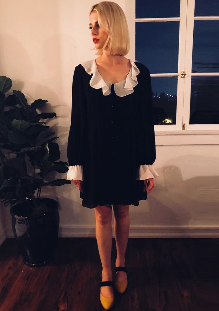 Lucy Boynton Style: It would seem Lucy's main fashion muse is indeed Wednesday Addams...