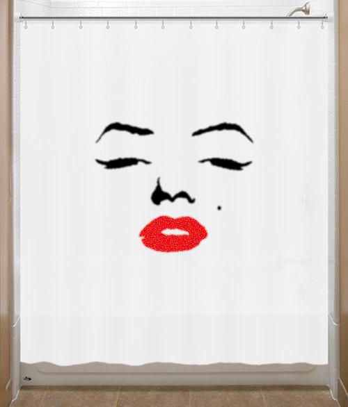 Marilyn Monroe Shower Curtain Marylin Bathroom Decor Bath Kids
