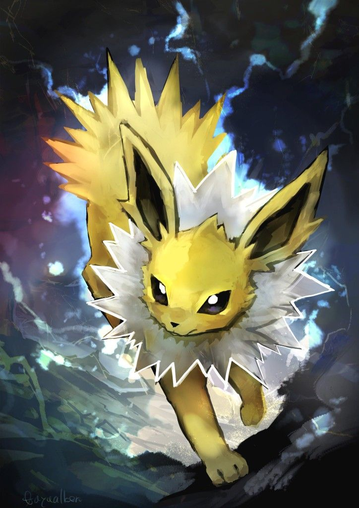 Jolteon Pokemon Cute Pokemon Wallpaper Cute Pokemon Pokemon Eeveelutions