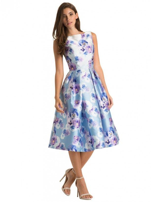Chi Chi Mhairi Dress Floral Print Midi Dress Dresses Fashion Dresses