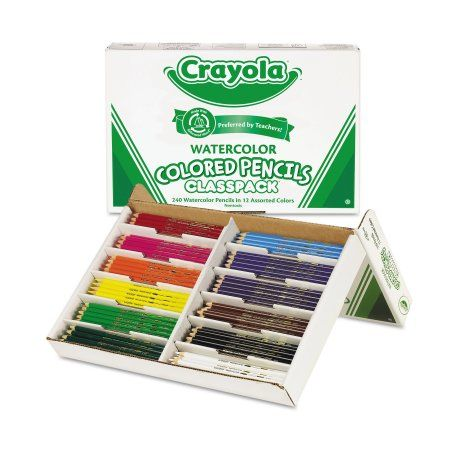 Crayola Watercolor Wood Pencil Classpack 3 3 Mm 12 Asstd Clrs