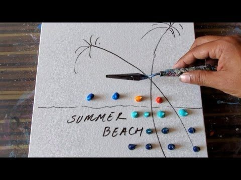 Summer Beach / Acrylic Painting Demo / Step by Step / Relaxing / Daily Art Therapy / Day #0289 - YouTube