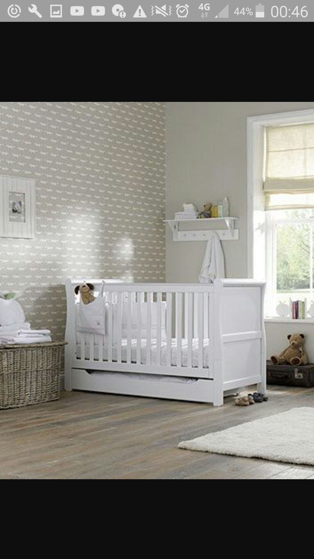Baby Cot Bedding, White Cot