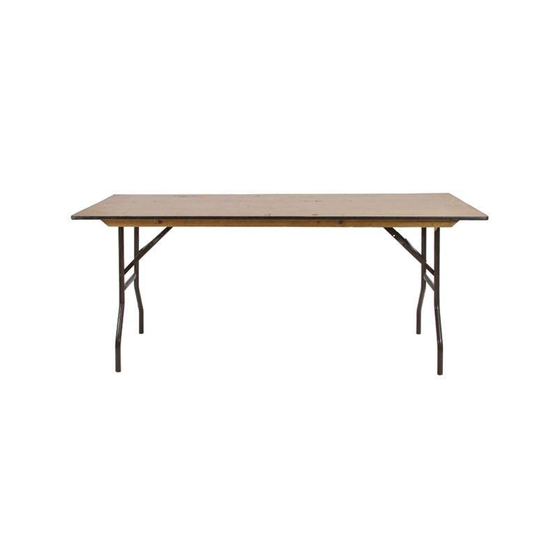 Good 4ft 8ft Trestle Table Wooden   Rectangular Wooden Banqueting Table Or Trestle  Table. Folding