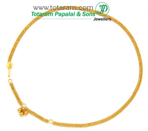 22k Gold Baby Waist Chain 235 Gmt002 Buy This Latest Indian Gold Jewelry Design In 12 150 Grams For A Lo Waist Chain Indian Gold Jewellery Design Gold Baby
