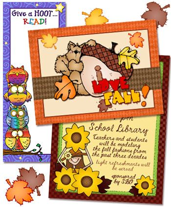 Create something fun for autumn with DJ Inkers cute clip ...