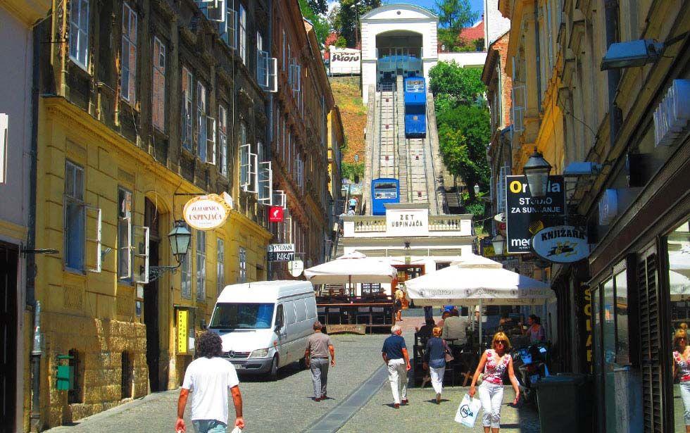 Zagreb Funicular Zagreb Croatia Towns