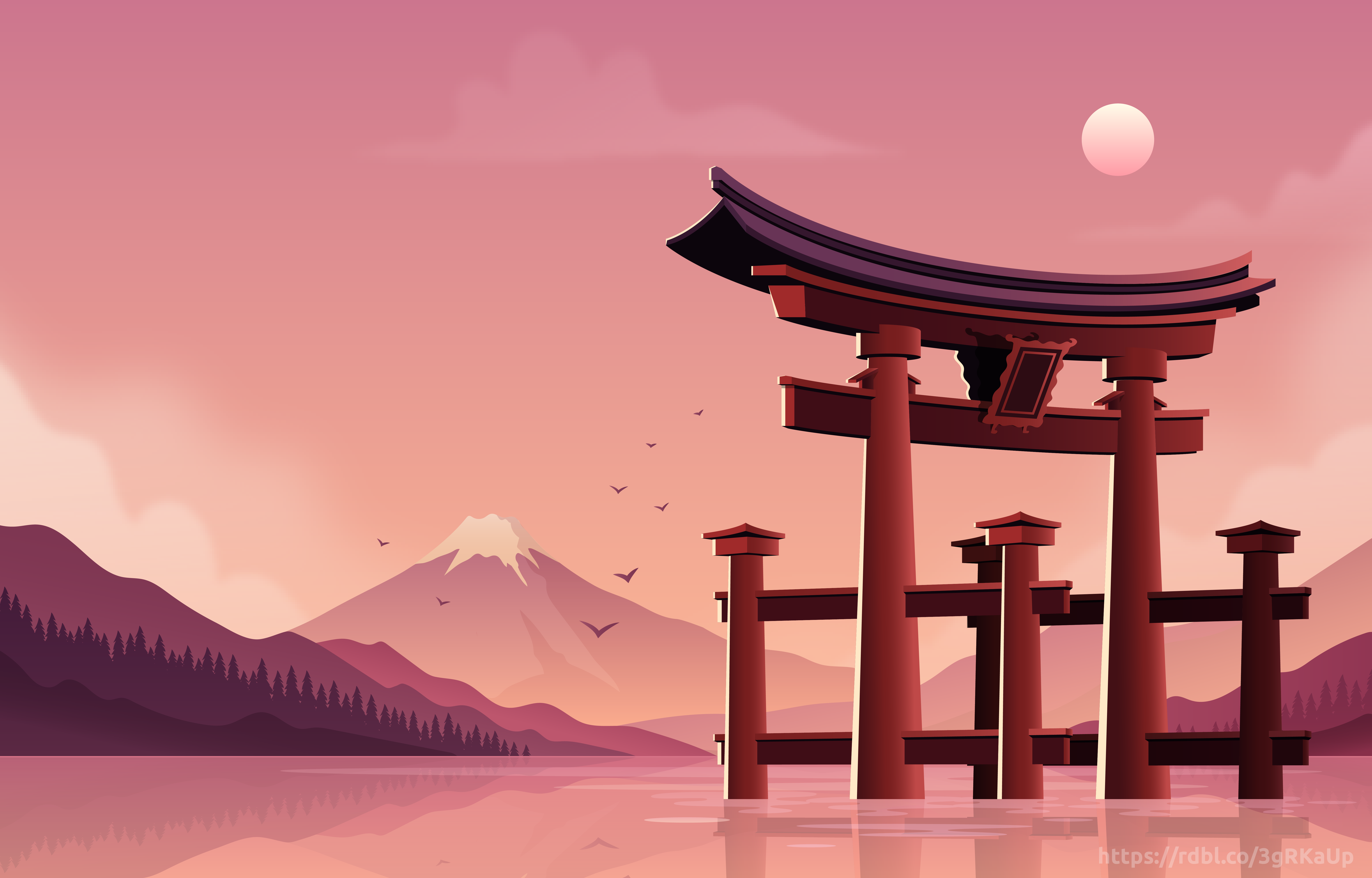 Welcometojapan Shop Redbubble Landscape Wallpaper Aesthetic Desktop Wallpaper Anime Backgrounds Wallpapers