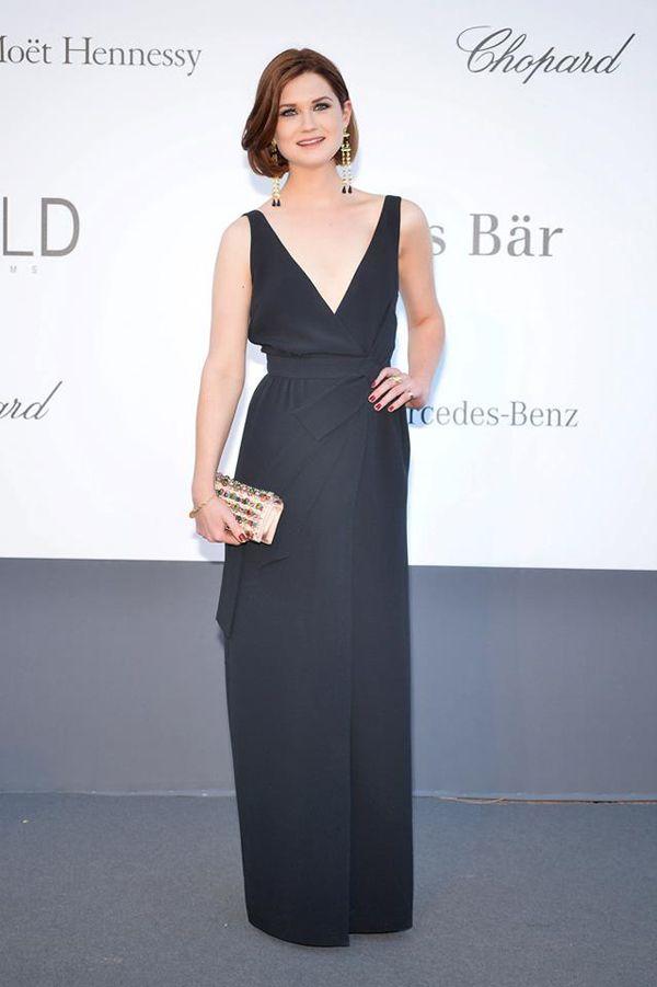 Cannes 2013 AmfAR Gala: Bonnie Wright in Prada