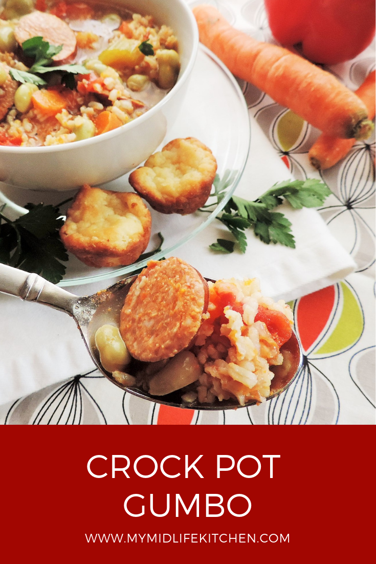 Crock Pot Gumbo - My Midlife Kitchen #crockpotgumbo Crock Pot Gumbo - My Midlife Kitchen #crockpotgumbo