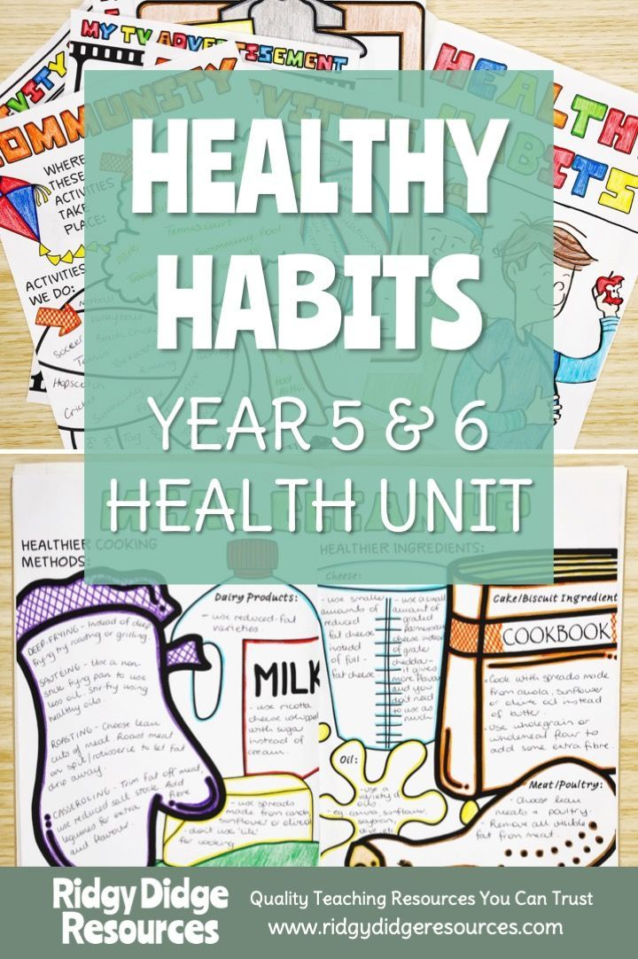 Australian Curriculum Year 5&6 Health Unit - Healthy ...