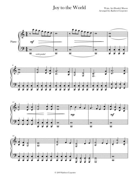 Joy To The World (Piano) By - Digital Sheet Music For Piano Solo (Download & Print S0.333057 ...