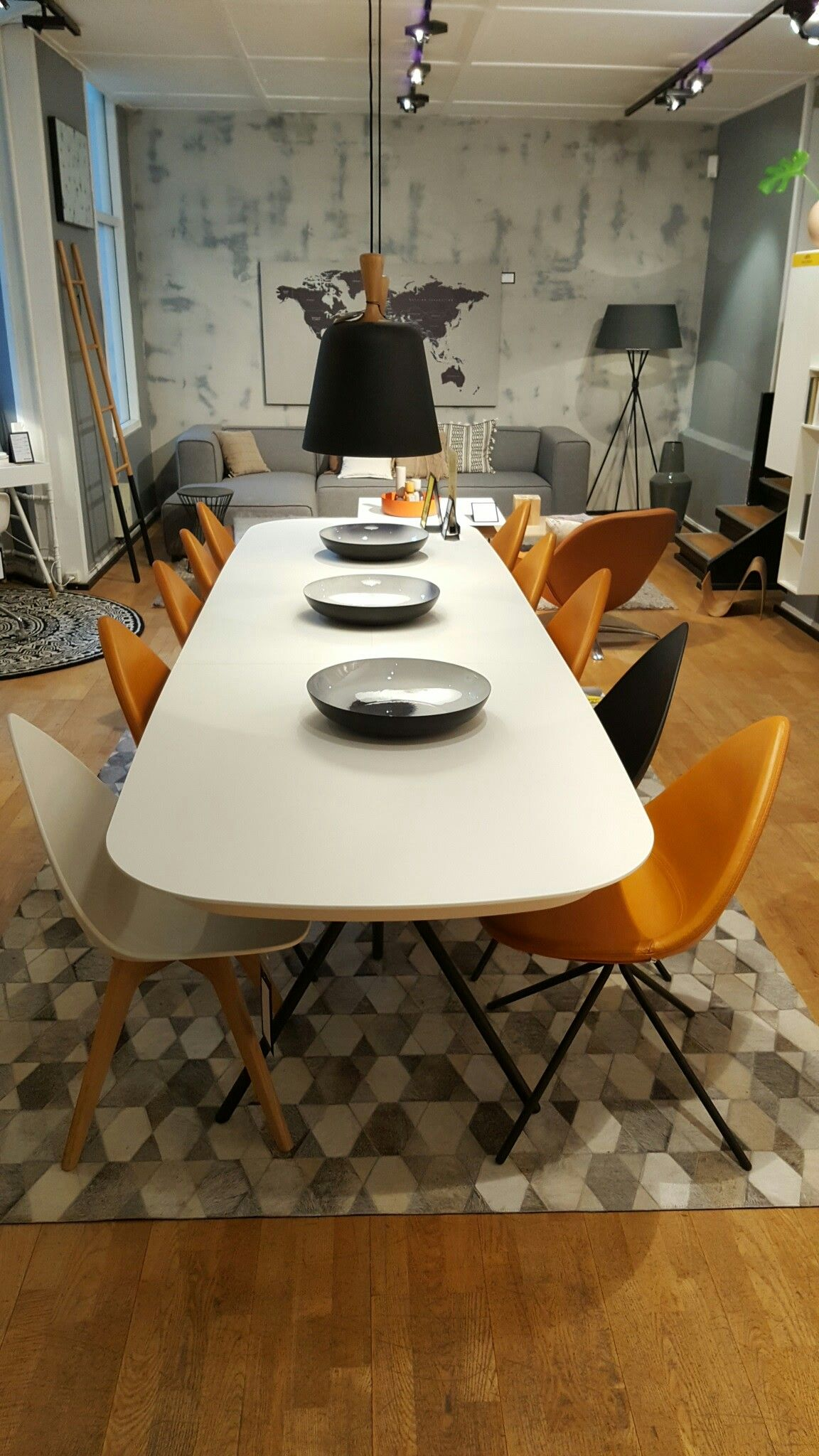 boconcept flagship store  home decor table dining table