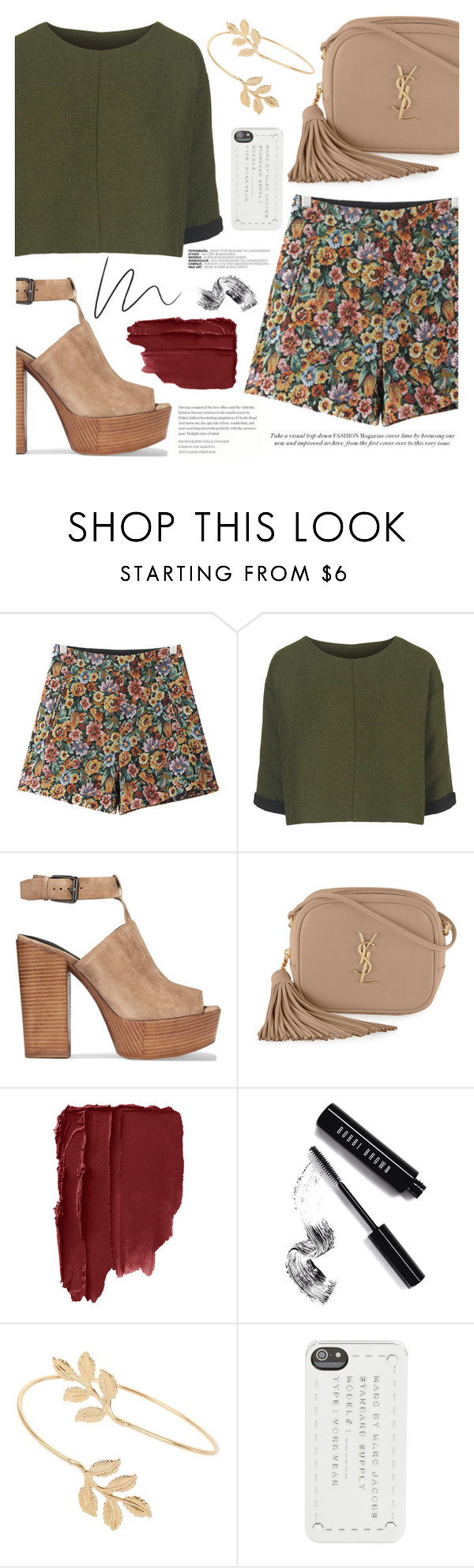 """""""mon amour"""" by celinenvy ❤ liked on Polyvore featuring Chicnova Fashion, Topshop, Rebecca Minkoff, Yves Saint Laurent, Bobbi Brown Cosmetics, Miss Selfridge and Marc by Marc Jacobs"""