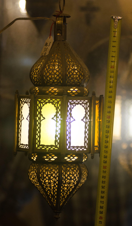 Hanging Vintage Rustic Moroccan Brass Lantern Handmade Fez Brass Lantern Lantern Handmade Ceiling Lights