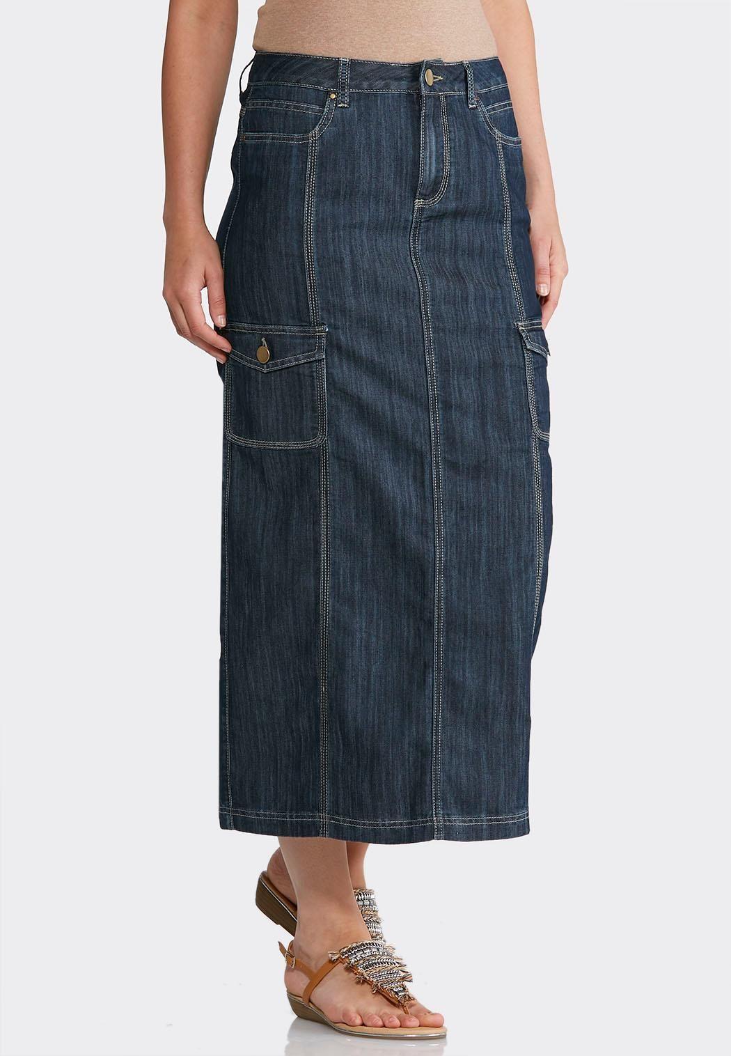 3602eeb75e Denim Cargo Maxi Skirt Skirts Cato Fashions   Fashion   Fashion ...