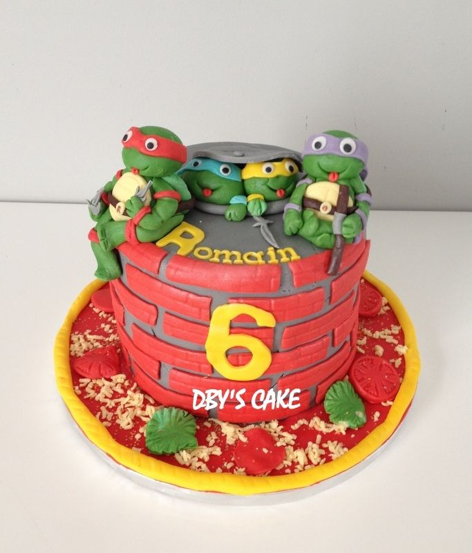 gâteau tortues ninja | tortue ninja | pinterest | gâteaux tortues