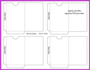 Gift Or Credit Card Envelope Template On Craftsuprint  View Now