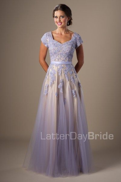 modest prom gowns with lace in Salt Lake City, Utah, the Rylie in ...