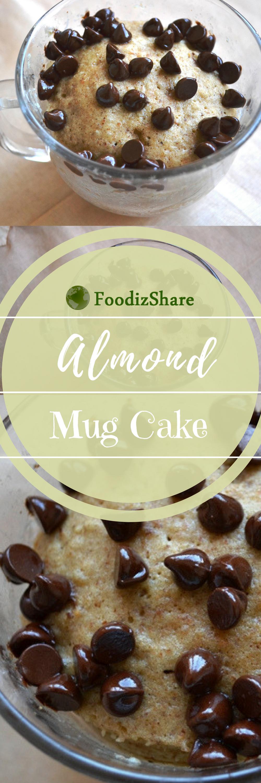 mug cake- almond cake- desserts- Microwave-easy-gluten ...