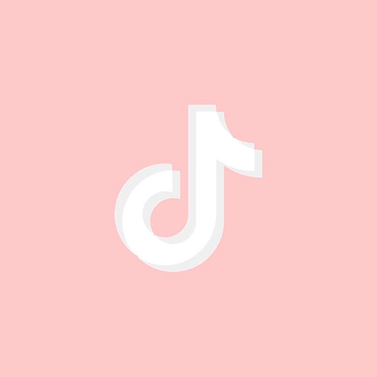 Baby Pink Logo Tiktok Iphone Wallpaper App App Icon Purple Wallpaper Iphone