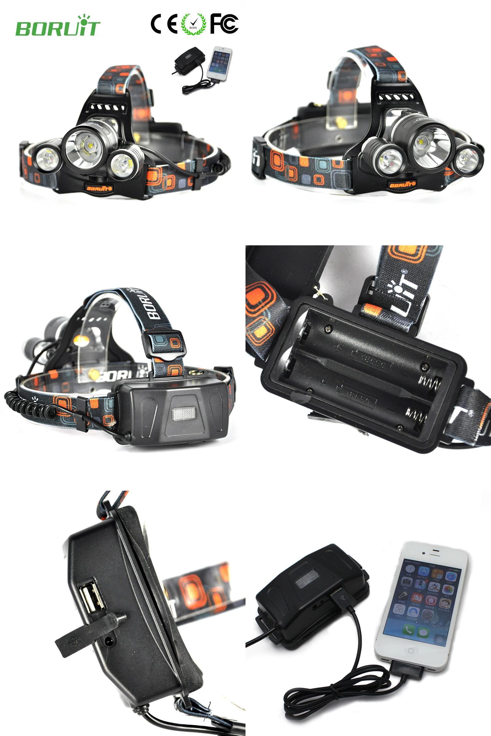 [Visit to Buy] Boruit RJ-5001 Led headlamp Headlight 6000 lumens Linterna frontal 3 XM-L2 Hiking Flashlight head Torch light lamp with charger #Advertisement
