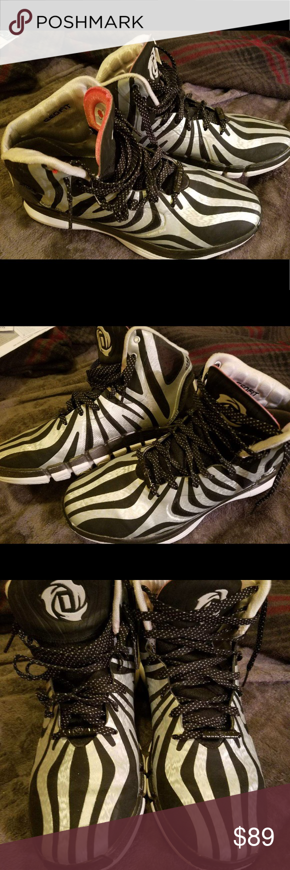 premium selection d20fb d1edf Adidas D Rose 4.5 Mens Size 9.5 Adidas D Rose 4.5 Zebra Derrick Rose Very  gently used Excellent condition Mens 9.5 adidas Shoes Athletic Shoes