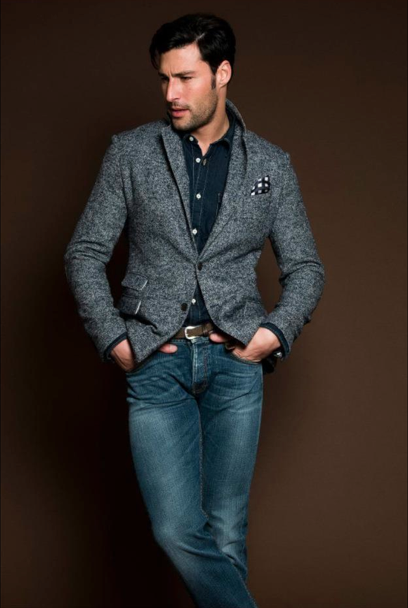 Gray wool jacket. Fresh men's fashion daily... follow http