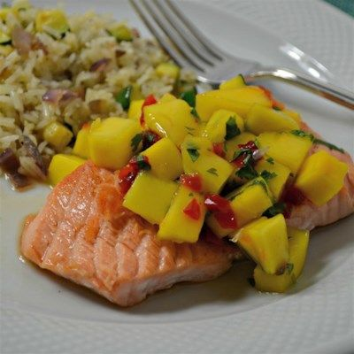 Chef John S Salmon Mango Bango Recipes Chef John Recipes Salmon Recipes