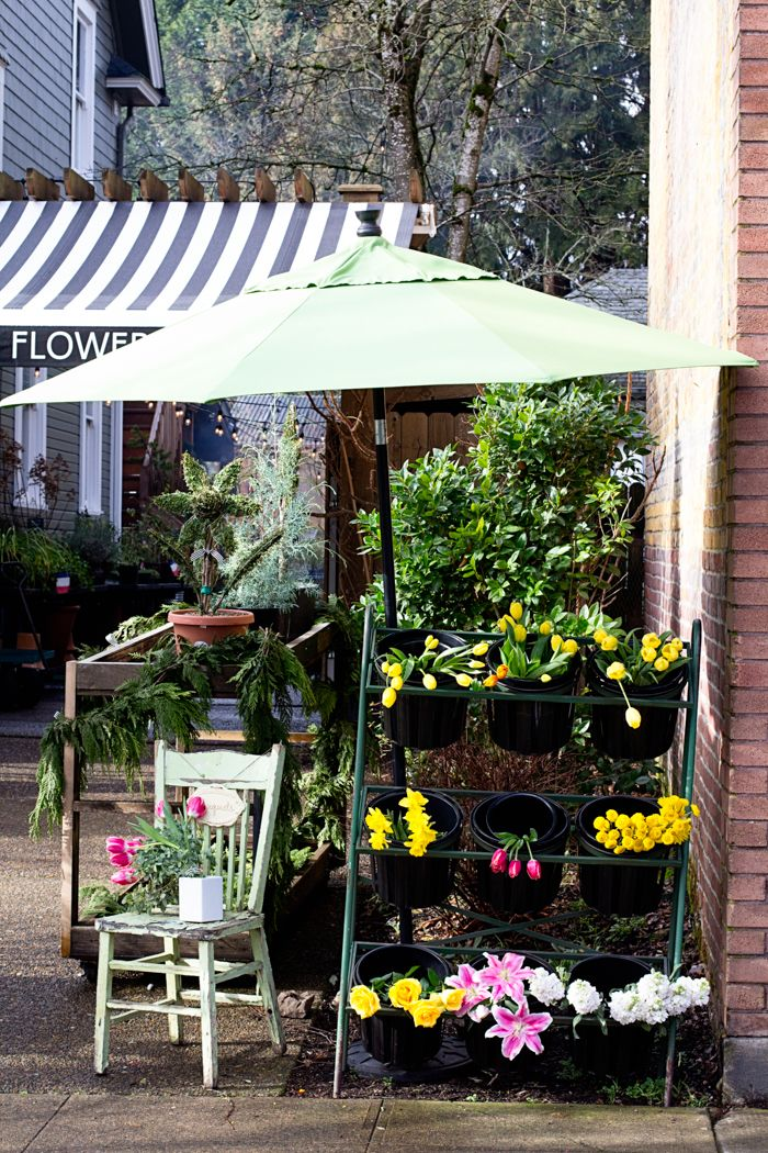 Sellwood Flower Co. street view photographed by Jessica Nichols, Sweet Eventide