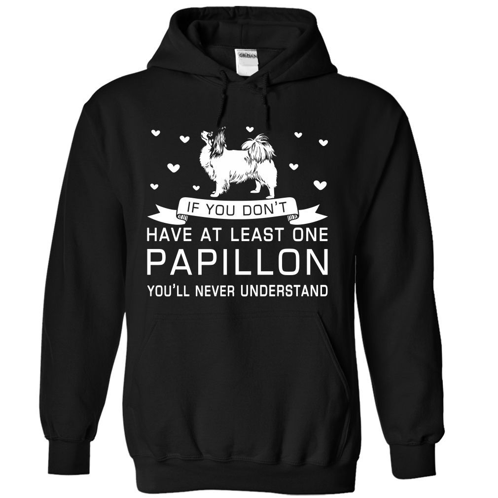 Papillon T-Shirts, Hoodies. BUY IT NOW ==► https://www.sunfrog.com/Pets/Papillon-2450-Black-Hoodie.html?id=41382